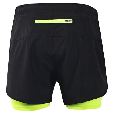 ARSUXEO Quick Dry Sports Shorts with Compression Lining