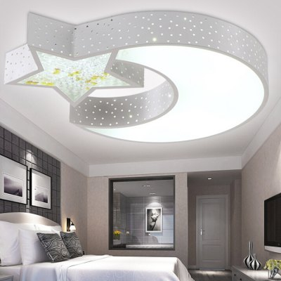 LED 36W Modern Cartoon Star + Moon Ceiling Light 220VFlush Ceiling Lights<br>LED 36W Modern Cartoon Star + Moon Ceiling Light 220V<br><br>Features: Remote-Controlled<br>Illumination Field: 15 - 25 Square Meter<br>Luminous Flux: 3200lm<br>Package Contents: 1 x Ceiling Light, 1 x Remote Control<br>Package size (L x W x H): 74.00 x 76.00 x 14.00 cm / 29.13 x 29.92 x 5.51 inches<br>Package weight: 5.0300 kg<br>Product size (L x W x H): 68.00 x 68.00 x 7.00 cm / 26.77 x 26.77 x 2.76 inches<br>Product weight: 5.0000 kg<br>Sheathing Material: Iron, Acrylic<br>Type: Ceiling Lights<br>Voltage (V): 220V<br>Wattage (W): 36W<br>Wavelength / CCT: 3000K,6500K