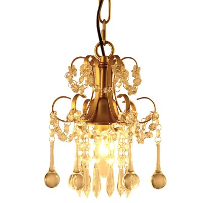 LightMyselfYQ1020 E12 x 1 CrystalTrimmed Pendant LightChandelier<br>LightMyselfYQ1020 E12 x 1 CrystalTrimmed Pendant Light<br><br>Beam Angle: 180 Degree<br>Brand: LightMyself<br>Bulb Included: No<br>Illumination Field: 20 - 25sqm<br>Output Power: 40W<br>Package Contents: 1 x LightMyself Crystal Pendant Light<br>Package size (L x W x H): 23.00 x 23.00 x 21.00 cm / 9.06 x 9.06 x 8.27 inches<br>Package weight: 2.4000 kg<br>Product weight: 1.6000 kg<br>Sheathing Material: Iron, Crystal<br>Style: Modern/Contemporary, Trendy<br>Type: Pendants<br>Voltage (V): AC 110-120V
