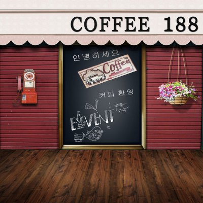 Coffee Shop Photography Background Cloth