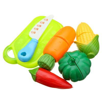 6 Pieces of Vegetable ToyPretend Play<br>6 Pieces of Vegetable Toy<br><br>Appliable Crowd: Boys, Girls<br>Materials: ABS<br>Nature: Other<br>Package Contents: 1 x Set of Simulate Kitchen Vegetables<br>Package size: 25.00 x 37.50 x 10.00 cm / 9.84 x 14.76 x 3.94 inches<br>Package weight: 0.1200 kg<br>Product size: 20.00 x 35.00 x 9.00 cm / 7.87 x 13.78 x 3.54 inches<br>Product weight: 0.1000 kg