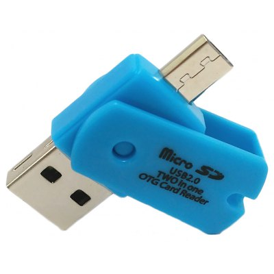 Rotary 2 in 1 USB 2.0 Micro USB OTG TF Card Reader