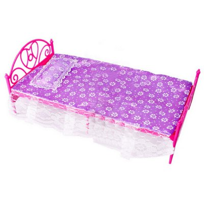 Mini Dolls Bed Set for BarbiePretend Play<br>Mini Dolls Bed Set for Barbie<br><br>Appliable Crowd: Girls, Beginner<br>Materials: ABS, Cloth, Cotton, Sponge<br>Nature: Other<br>Package Contents: 1 x Doll Bed, 1 x Pillow, 1 x Sheet<br>Package size: 33.50 x 18.00 x 14.00 cm / 13.19 x 7.09 x 5.51 inches<br>Package weight: 0.2200 kg<br>Product size: 31.50 x 16.00 x 12.00 cm / 12.4 x 6.3 x 4.72 inches<br>Product weight: 0.0910 kg