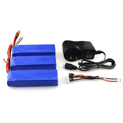MJX - B6 - 002 3pcs 7.4V 2300mAh 35C Upgraded Li-ion Battery
