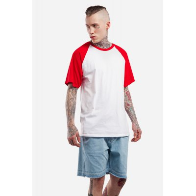Raglan Sleeve Color Spliced 100 Cotton T-shirt for MenMens Short Sleeve Tees<br>Raglan Sleeve Color Spliced 100 Cotton T-shirt for Men<br><br>Material: Cotton<br>Neckline: Round Collar<br>Package Content: 1 x T-shirt<br>Package size: 30.00 x 35.00 x 0.50 cm / 11.81 x 13.78 x 0.2 inches<br>Package weight: 0.2500 kg<br>Pattern Type: Solid<br>Product weight: 0.2000 kg<br>Season: Summer<br>Sleeve Length: Short Sleeves<br>Style: Casual