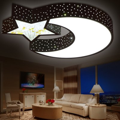 LED 30W 2700LM Cartoon Star + Moon Ceiling Light 220VFlush Ceiling Lights<br>LED 30W 2700LM Cartoon Star + Moon Ceiling Light 220V<br><br>Features: Remote-Controlled<br>Illumination Field: 15 - 25 Square Meter<br>Luminous Flux: 2700lm<br>Package Contents: 1 x Ceiling Light, 1 x Remote Control<br>Package size (L x W x H): 60.00 x 60.00 x 16.00 cm / 23.62 x 23.62 x 6.3 inches<br>Package weight: 4.0300 kg<br>Product size (L x W x H): 55.00 x 55.00 x 7.00 cm / 21.65 x 21.65 x 2.76 inches<br>Product weight: 4.0000 kg<br>Sheathing Material: Iron, Acrylic<br>Type: Ceiling Lights<br>Voltage (V): 220V<br>Wattage (W): 30<br>Wavelength / CCT: 3000K,6500K