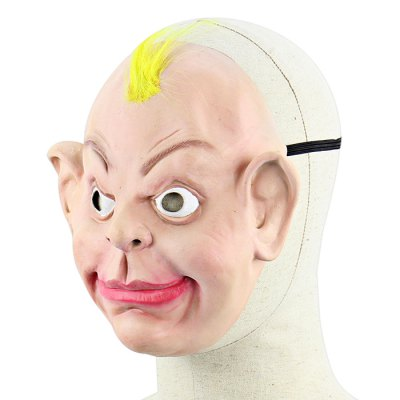 Yellow Hair Long-eared Ugly Baby Latex Mask