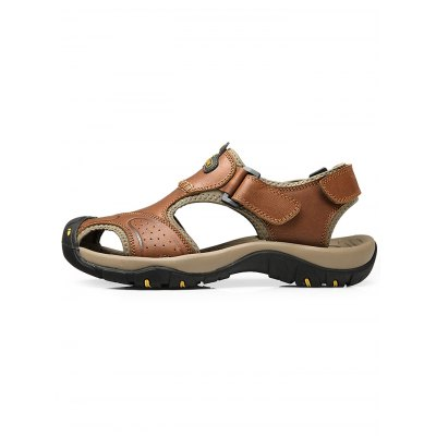 Men Genuine Leather Casual SandalsMens Sandals<br>Men Genuine Leather Casual Sandals<br><br>Contents: 1 x Pair of Sandals<br>Materials: Genuine Leather, Rubber<br>Occasion: Casual<br>Package Size ( L x W x H ): 33.00 x 22.00 x 11.00 cm / 12.99 x 8.66 x 4.33 inches<br>Package Weights: 0.8700kg<br>Seasons: Summer<br>Style: Leisure<br>Type: Sandals