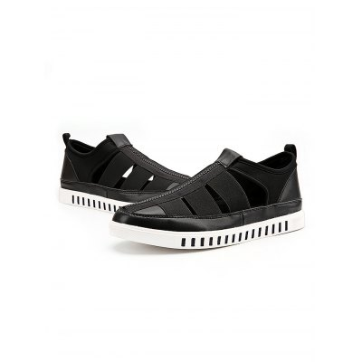 Men PU Rubber Soles Casual SandalsMens Sandals<br>Men PU Rubber Soles Casual Sandals<br><br>Contents: 1 x Pair of Shoes<br>Materials: PU, Rubber<br>Occasion: Casual<br>Package Size ( L x W x H ): 31.00 x 21.00 x 11.00 cm / 12.2 x 8.27 x 4.33 inches<br>Package Weights: 0.62kg<br>Seasons: Summer<br>Style: Leisure, Fashion, Comfortable<br>Type: Sandals