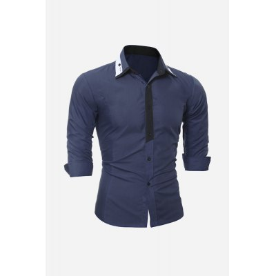 Men Splice Slim ShirtMens Shirts<br>Men Splice Slim Shirt<br><br>Package Contents: 1 x Shirt<br>Package size: 30.00 x 20.00 x 2.00 cm / 11.81 x 7.87 x 0.79 inches<br>Package weight: 0.2200 kg<br>Product weight: 0.1800 kg