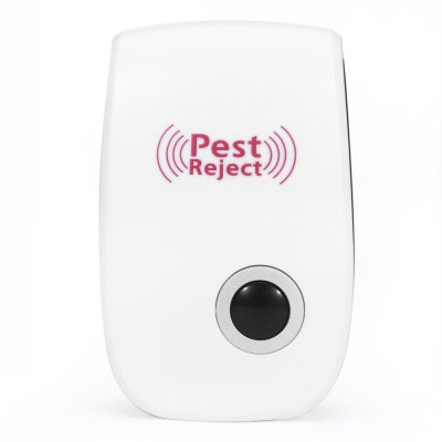 Electronic Pest Repeller Ultrasonic Rejector for Mouse MosquitoPest Control<br>Electronic Pest Repeller Ultrasonic Rejector for Mouse Mosquito<br><br>Available Color: White<br>Functions: Others<br>Material: ABS<br>Package Contents: 1 x Ultrasonic Pest Repeller<br>Package size (L x W x H): 9.50 x 5.50 x 6.50 cm / 3.74 x 2.17 x 2.56 inches<br>Package weight: 0.0830 kg<br>Product size (L x W x H): 8.50 x 5.60 x 3.00 cm / 3.35 x 2.2 x 1.18 inches<br>Product weight: 0.0500 kg<br>Types: MosquitoRepellentBracelets