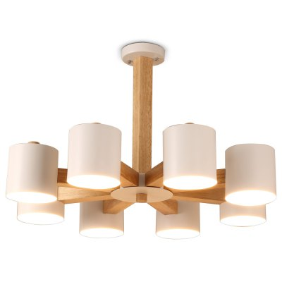 LightMyselfE26 x 8 Wooden Pendant LightChandelier<br>LightMyselfE26 x 8 Wooden Pendant Light<br><br>Beam Angle: 180 Degree<br>Brand: LightMyself<br>Bulb Included: No<br>Illumination Field: 20 - 25sqm<br>Output Power: 40W<br>Package Contents: 1 x LightMyself Pendant Light, 1 x English Manual<br>Package size (L x W x H): 66.00 x 66.00 x 21.00 cm / 25.98 x 25.98 x 8.27 inches<br>Package weight: 8.3000 kg<br>Product weight: 7.5000 kg<br>Sheathing Material: Wood, Iron<br>Style: Europe<br>Type: Pendants<br>Voltage (V): AC 110-120V,AC 220-240