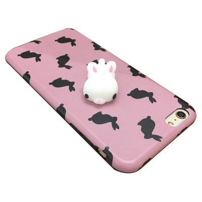 Squishy 3D Solid Rabbit Doll Phone Case for iPhone 6 / 6S