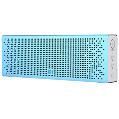 Original XiaoMi Bluetooth 4.0 SpeakerSpeakers<br>Original XiaoMi Bluetooth 4.0 Speaker<br><br>Audio Source: Bluetooth Enabled Devices,Electronic Products with 3.5mm Plug<br>Battery Capacity: 1500mAh<br>Battery Type: Built-in 1500mAh battery<br>Bluetooth Version: V4.0<br>Charging Time: 2.5 Hours<br>Compatible with: Tablet PC, PSP, PC, MP5, MP4, iPhone, iPod, Laptop, Mobile phone, MP3<br>Connection: Wireless<br>Design: Stylish, Portable<br>Freq: 20Hz-20KHz<br>Functions: Songs Track<br>Interface: Microphone, Micro USB, 3.5mm Audio<br>Number of Speakers: 1<br>Package Contents: 1 x Original XiaoMi Bluetooth 4.0 Speaker, 1 x Chinese Manual<br>Package size (L x W x H): 7.50 x 3.50 x 21.00 cm / 2.95 x 1.38 x 8.27 inches<br>Package weight: 0.3920 kg<br>Power Output: 3W x 2<br>Product size (L x W x H): 16.80 x 2.45 x 5.80 cm / 6.61 x 0.96 x 2.28 inches<br>Product weight: 0.2090 kg<br>S/N: 60dB<br>Sound channel: Two-channel (stereo)<br>Speaker Impedance: 3 ohm<br>Supports: Bluetooth, Microphone, Hands-free Calls, Volume Control<br>Working Time: 8 Hours<br>Working Voltage: 5V