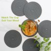 zanmini Silicone Coaster Food Safe Cup Mat Set of 6 11027