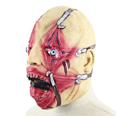 Scary Bloody Face Chained Monster Latex Mask