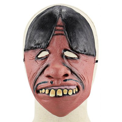 Funny Bucktooth Middle Part Hairstyle Latex Mask