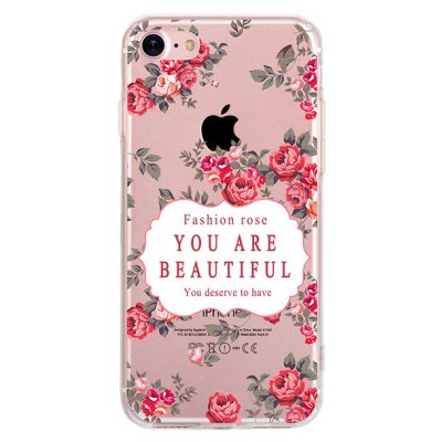 Rose TPU Case for iPhone 7