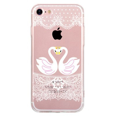 Couple Swan Case for iPhone 7