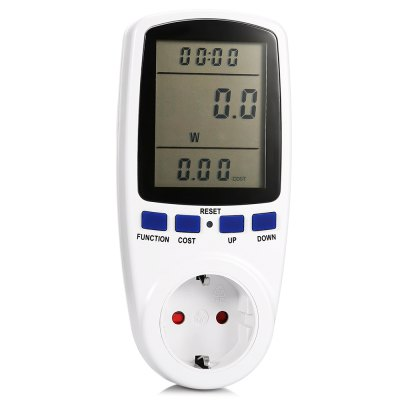 TS - 836 LCD Cost Overload Display Power Energy MeterTesters &amp; Detectors<br>TS - 836 LCD Cost Overload Display Power Energy Meter<br><br>Battery Voltage: 3.6V<br>Package Contents: 1 x TS - 836 Power Energy Meter, 1 x English Instruction Manual<br>Package size (L x W x H): 16.50 x 8.00 x 8.80 cm / 6.5 x 3.15 x 3.46 inches<br>Package weight: 0.2600 kg<br>Product size (L x W x H): 13.50 x 6.50 x 7.00 cm / 5.31 x 2.56 x 2.76 inches<br>Product weight: 0.2200 kg<br>Special function: Measure Power / Energy<br>Voltage: AC 230 - 250V