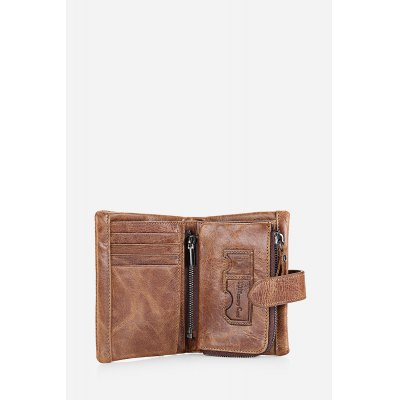 FRID Protection Tri-fold Genuine Leather Men WalletMens Wallets<br>FRID Protection Tri-fold Genuine Leather Men Wallet<br><br>Closure Type: Snap Fastener<br>Material: Genuine Leather<br>Package Size(L x W x H): 14.00 x 10.00 x 4.00 cm / 5.51 x 3.94 x 1.57 inches<br>Package weight: 0.1200 kg<br>Packing List: 1 x Wallet<br>Product Size(L x W x H): 13.10 x 9.00 x 3.00 cm / 5.16 x 3.54 x 1.18 inches<br>Product weight: 0.0950 kg<br>Style: Fashion<br>Type: Wallet