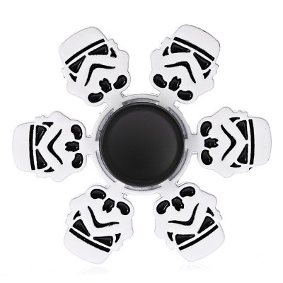 Six-blade Robot Soldier Alloy ADHD Fidget SpinnerFidget Spinners<br>Six-blade Robot Soldier Alloy ADHD Fidget Spinner<br><br>Center Bearing Material: Stainless Steel<br>Color: White<br>Frame material: Alloy<br>Package Contents: 1 x Fidget Spinner<br>Package size (L x W x H): 11.00 x 9.00 x 1.50 cm / 4.33 x 3.54 x 0.59 inches<br>Package weight: 0.0770 kg<br>Product size (L x W x H): 5.80 x 5.80 x 1.10 cm / 2.28 x 2.28 x 0.43 inches<br>Product weight: 0.0470 kg<br>Type: Cool
