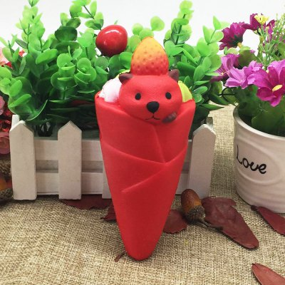 Stress Relief Simulation Food Little Bear Ice Cream Squishy Toy
