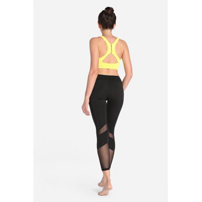 Elastic Skinny Mesh Spliced Fitness Pants Quick-drying Leggings for WomenYoga<br>Elastic Skinny Mesh Spliced Fitness Pants Quick-drying Leggings for Women<br><br>Closure Type: Elastic Waist<br>Gender: Female<br>Material: Polyester, Spandex<br>Package Content: 1 x Pair of Pants<br>Package size: 30.00 x 35.00 x 0.50 cm / 11.81 x 13.78 x 0.2 inches<br>Package weight: 0.3200 kg<br>Product weight: 0.2500 kg<br>Types 1: Leggings