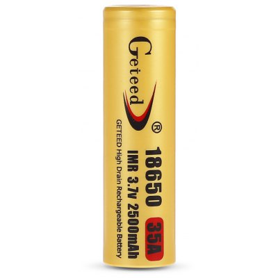 Geteed  3.7V 35A 2500mAh 18650 Li-ion Rechargeable Battery