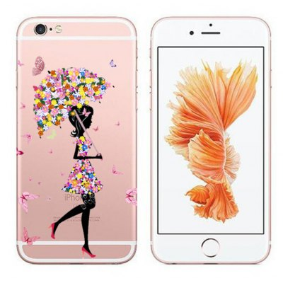 Butterfly Pretty Girl TPU Case Cover for iPhone 6 Plus / 6S Plus