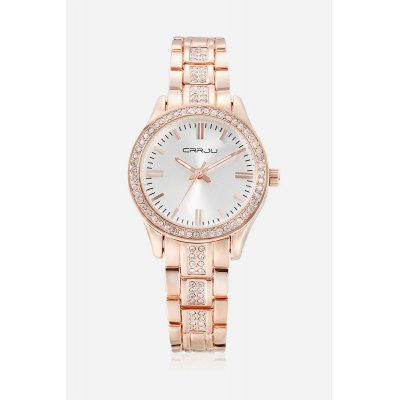 CRRJU 2115 Quartz Women WatchWomens Watches<br>CRRJU 2115 Quartz Women Watch<br><br>Available Color: Gold,Rose Gold,Silver,White and Gold<br>Band material: Zinc Alloy<br>Band size: 23 x 1.1cm<br>Brand: CRRJU<br>Case material: Zinc Alloy<br>Clasp type: Folding clasp with safety<br>Dial size: 3.3 x 3.3 x 0.7cm<br>Display type: Analog<br>Movement type: Quartz watch<br>Package Contents: 1 x Women Watch, 1 x Box<br>Package size (L x W x H): 9.00 x 9.00 x 6.00 cm / 3.54 x 3.54 x 2.36 inches<br>Package weight: 0.1420 kg<br>Product size (L x W x H): 23.00 x 3.30 x 0.70 cm / 9.06 x 1.3 x 0.28 inches<br>Product weight: 0.0600 kg<br>Shape of the dial: Round<br>Watch style: Casual<br>Watches categories: Women<br>Water resistance : 30 meters<br>Wearable length: 22 - 23cm