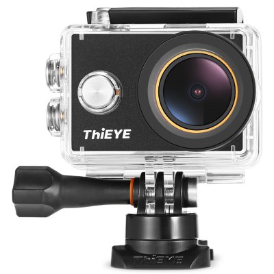 ThiEYE V5s 4K WiFi Full HD Action CameraAction Cameras<br>ThiEYE V5s 4K WiFi Full HD Action Camera<br><br>Aerial Photography: No<br>Anti-shake: No<br>Aperture Range : 4X<br>Application: Ski, Underwater, Motorcycle, Extreme Sports, Bike<br>Auto Focusing: Yes<br>Battery Capacity (mAh): 1180mAh<br>Battery Type: Removable<br>Brand: ThiEYE<br>Camera Pixel : 12MP<br>Camera Timer: Yes<br>Charge way: USB charge by PC<br>Charging Time: 2h<br>Chipset Name: Allwinner<br>Class Rating Requirements: Class 10 or Above<br>Features: Wireless<br>Function: Loop-cycle Recording, Auto Focusing, Camera Timer, WiFi, Waterproof, Time Lapse<br>Image Format : JPEG<br>Language: Arabic,Dutch,English,French,German,Indonesian,Italian,Japanese,Polish,Portuguese,Russian,Simplified Chinese,Spanish,Traditional Chinese<br>Lens Diameter: F2.5<br>Loop-cycle Recording : Yes<br>Loop-cycle Recording Time: 2min,3min,5min<br>Max External Card Supported: TF 128G (not included)<br>Model: V5s<br>Night vision : No<br>Optical Zoom  : Yes<br>Package Contents: 1 x V5s Action Camera, 1 x Waterproof Housing, 1 x Multi-language User Manual, 1 x UV Filter, 1 x 360 Degree Rotating J-shaped Mount, 1 x CPL Filter, 1 x Flat Mount, 1 x Protective Backdoor, 2 x Adhes<br>Package size (L x W x H): 26.00 x 12.50 x 7.80 cm / 10.24 x 4.92 x 3.07 inches<br>Package weight: 0.6840 kg<br>Product size (L x W x H): 5.90 x 4.10 x 3.00 cm / 2.32 x 1.61 x 1.18 inches<br>Product weight: 0.0890 kg<br>Screen: With Screen<br>Screen resolution: 320x240<br>Screen size: 2.0inch<br>Standby time: 4h<br>Time lapse: Yes<br>Type: Sports Camera<br>Type of Camera: 4K<br>Video format: MP4<br>Video Frame Rate: 120fps,30FPS,60FPS<br>Video Resolution: 1080P(30fps),1080P(60fps),2.7K (30fps),4K (30fps),720P (120fps),720P (60fps)<br>Water Resistant: 60m<br>Waterproof: Yes<br>Waterproof Rating : IP68<br>Wide Angle: 170 degree wide angle<br>WIFI: Yes<br>WiFi Distance : 10m<br>Working Time: 90min at 4K / 30fps, 100min at 1080P