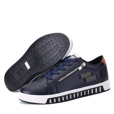 Men Fashion PU Side-zipper Lace-up Flat ShoesCasual Shoes<br>Men Fashion PU Side-zipper Lace-up Flat Shoes<br><br>Contents: 1 x Pair of Casual Shoes<br>Materials: PU, Rubber<br>Occasion: Casual, Daily<br>Package Size ( L x W x H ): 31.00 x 21.00 x 11.00 cm / 12.2 x 8.27 x 4.33 inches<br>Package Weights: 0.84kg<br>Seasons: Autumn,Spring,Summer,Winter<br>Style: Leisure, Fashion, Comfortable<br>Type: Casual Shoes