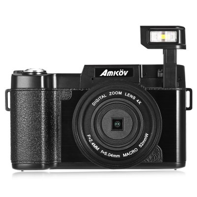 AMKOV CD - R2 Digital Action Camera Video CamcorderCamcorders<br>AMKOV CD - R2 Digital Action Camera Video Camcorder<br><br>Battery Capacity: 800mAh<br>Battery Type: Li-ion<br>Brand: Amkov<br>Digital zoom: 4X<br>Display size (inch): 3<br>Exposure Compensation: +1EV,+2EV,+3EV,-1EV,-2EV,-3EV,0EV<br>External memory storage(Maximum, not included): SD card up to 32GB<br>File format: JPEG, MOV<br>Image quality: Excellent,Good,Normal<br>Image resolutions: 1920 x 1080 (2MP HD), 5600 x 4200 (24MP), 2048 x 1536 (3MP), 5200 x 3900 (20MP), 4000 x 3000 (12MP), 3264 x 2448 (8MP), 2592 x 1944 (5MP)<br>Interface: SD Card Slot<br>Language: Chinese,Dutch,English,French,German,Italian,Portuguese,Spanish,Traditional Chinese<br>Lens type: Replaceable<br>Memory support : SD card<br>Model: CD - R2<br>Other Function: Smile Capture, PictBridge, Face Detection, Continue Shot, Auto Power-off, Anti-Shake<br>Package Contents: 1 x Digital Camera, 1 x USB Cable, 1 x Lanyard, 1 x Wide Angle Lens, 1 x Storage Bag for Lens, 1 x Chinese and English User Manual<br>Package size (L x W x H): 17.50 x 14.50 x 9.00 cm / 6.89 x 5.71 x 3.54 inches<br>Package weight: 0.5330 kg<br>Photo effects: Black and white,Blue,Cold color,Green,Red,Sunset,Two value,Warm color<br>Pixel: 800w<br>Product size (L x W x H): 12.00 x 4.50 x 7.00 cm / 4.72 x 1.77 x 2.76 inches<br>Product weight: 0.2750 kg<br>Scene: Night scenery, Auto / Night portrait, Backlight, High sensitivity, Beach, Building, Kids, Party, Sports<br>Screen type: Rotating screen<br>Sensor: CMOS<br>Special performance: Continue Shot, Wide angle, Smile Capture, Rotating LCD screen, PictBridge, Optical anti-shake, Face Detection, Auto Power-off, Flash<br>Type of Camera: 1080P<br>Video Resolution: 1280 x 720,1920 x 1080,640 x 480<br>White Balance: Auto,Cloudy,Daylight,Fluorescent,Tungsten<br>Working Time: 11111