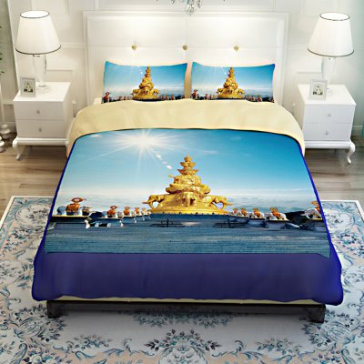 5-piece Polyester Bedding Set Mount Emei PatternBedding Sets<br>5-piece Polyester Bedding Set Mount Emei Pattern<br><br>Package Contents: 2 x Pillowcase, 1 x Duvet Cover, 1 x Flat Sheet, 1 x Fitted Sheet<br>Package size (L x W x H): 40.00 x 30.00 x 4.00 cm / 15.75 x 11.81 x 1.57 inches<br>Package weight: 2.2500 kg<br>Product weight: 2.2000 kg<br>Style: Scenery / Landscape<br>Type: Double