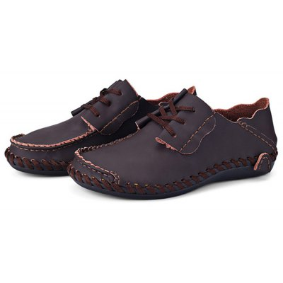 Men Wearable Genuine Leather Casual Shoes