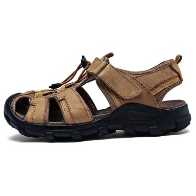 Soft Genuine Leather Casual SandalsMens Sandals<br>Soft Genuine Leather Casual Sandals<br><br>Contents: 1 x Pair of Shoes<br>Materials: Genuine Leather<br>Occasion: Casual<br>Package Size ( L x W x H ): 33.00 x 24.00 x 13.00 cm / 12.99 x 9.45 x 5.12 inches<br>Package Weights: 0.92kg<br>Seasons: Summer<br>Style: Comfortable, Leisure<br>Type: Sandals