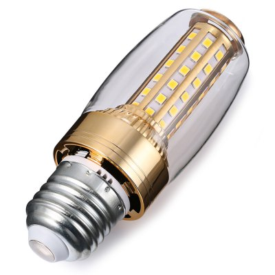 E27 12W 58 LEDs Corn Bulb 180 - 220VCorn Bulbs<br>E27 12W 58 LEDs Corn Bulb 180 - 220V<br><br>Available Light Color: Warm White<br>CCT/Wavelength: 3500K<br>Emitter Types: SMD 2835<br>Features: Long Life Expectancy, Low Power Consumption<br>Function: Commercial Lighting, Home Lighting<br>Holder: E27<br>Luminous Flux: 580Lm<br>Package Contents: 1 x E27 12W 58 LEDs Corn Bulb<br>Package size (L x W x H): 4.00 x 4.00 x 15.00 cm / 1.57 x 1.57 x 5.91 inches<br>Package weight: 0.0760 kg<br>Product weight: 0.0620 kg<br>Sheathing Material: Aluminum, PC<br>Total Emitters: 58<br>Type: Corn Bulbs<br>Voltage (V): AC 180 - 220V