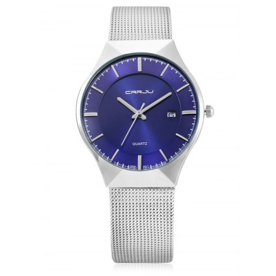 CRRJU 2127 Fashion Men WristwatchMens Watches<br>CRRJU 2127 Fashion Men Wristwatch<br><br>Available Color: Black,Black and white,Blue,White<br>Band material: Zinc Alloy<br>Band size: 24 x 1.8cm<br>Case material: Zinc Alloy<br>Clasp type: Hook buckle<br>Dial size: 4 x 4 x 0.6cm<br>Display type: Analog<br>Movement type: Quartz watch<br>Package Contents: 1 x Men Wristwatch, 1 x Box<br>Package size (L x W x H): 9.00 x 9.00 x 6.00 cm / 3.54 x 3.54 x 2.36 inches<br>Package weight: 0.1430 kg<br>Product size (L x W x H): 24.00 x 4.00 x 0.60 cm / 9.45 x 1.57 x 0.24 inches<br>Product weight: 0.0650 kg<br>Shape of the dial: Round<br>Watch style: Fashion<br>Watches categories: Men<br>Wearable length: 22 - 24cm