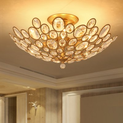 LightMyselfE12 x 6 CrystalTrimmed Pendant Light lightmyself crystal pendant lights pendant lamp modern lighting 7 87xh29 52 inch for dining room hotel room parlor study