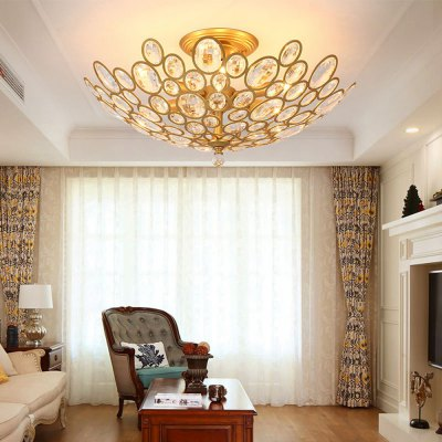 LightMyselfE14 x 6 CrystalTrimmed Pendant Light lightmyself crystal pendant lights pendant lamp modern lighting 7 87xh29 52 inch for dining room hotel room parlor study