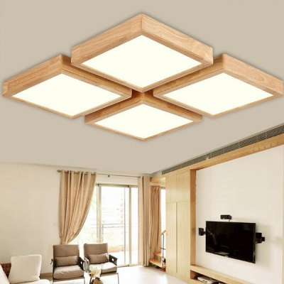 Quadratic Shape Wooden Ceiling LightFlush Ceiling Lights<br>Quadratic Shape Wooden Ceiling Light<br><br>Features: Remote-Controlled<br>Illumination Field: 12 - 15sqm<br>Luminous Flux: 2000lm<br>Optional Light Color: Warm White + White<br>Package Contents: 1 x Ceiling Light, 1 x Remote Controller<br>Package size (L x W x H): 60.00 x 60.00 x 15.00 cm / 23.62 x 23.62 x 5.91 inches<br>Package weight: 5.0400 kg<br>Product size (L x W x H): 50.00 x 50.00 x 9.00 cm / 19.69 x 19.69 x 3.54 inches<br>Product weight: 4.0000 kg<br>Sheathing Material: Acrylic<br>Type: Ceiling Lights<br>Voltage (V): 220V<br>Wattage (W): 24<br>Wavelength / CCT: 3000K,6500K