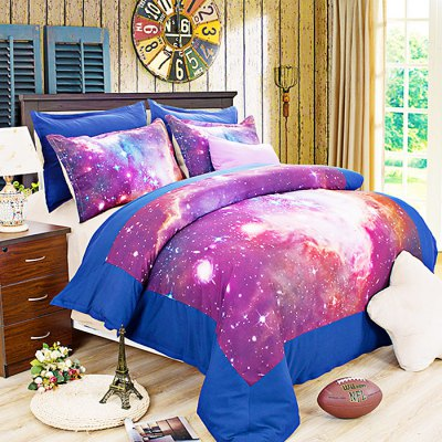 5-piece Polyester Bedding Set Starry Cosmos PatternBedding Sets<br>5-piece Polyester Bedding Set Starry Cosmos Pattern<br><br>Package Contents: 2 x Pillowcase, 1 x Duvet Cover, 1 x Flat Sheet, 1 x Fitted Sheet<br>Package size (L x W x H): 40.00 x 30.00 x 4.00 cm / 15.75 x 11.81 x 1.57 inches<br>Package weight: 2.2500 kg<br>Pattern Type: Novelty<br>Product weight: 2.2000 kg<br>Type: Double