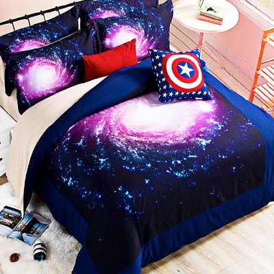 5-piece Polyester Bedding Set Beautiful Sky PatternBedding Sets<br>5-piece Polyester Bedding Set Beautiful Sky Pattern<br><br>Package Contents: 2 x Pillowcase, 1 x Duvet Cover, 1 x Flat Sheet, 1 x Fitted Sheet<br>Package size (L x W x H): 40.00 x 30.00 x 4.00 cm / 15.75 x 11.81 x 1.57 inches<br>Package weight: 2.2500 kg<br>Pattern Type: Novelty<br>Product weight: 2.2000 kg<br>Type: Double