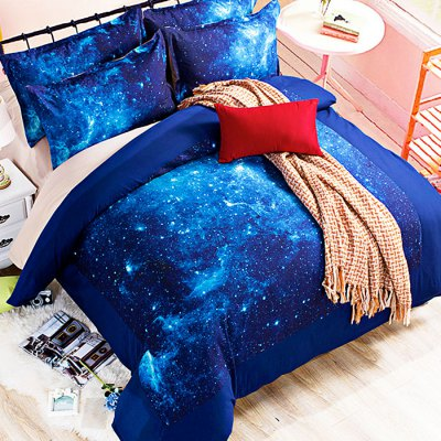 5-piece Polyester Bedding Set Starry Sky PatternBedding Sets<br>5-piece Polyester Bedding Set Starry Sky Pattern<br><br>Package Contents: 2 x Pillowcase, 1 x Duvet Cover, 1 x Flat Sheet, 1 x Fitted Sheet<br>Package size (L x W x H): 40.00 x 30.00 x 4.00 cm / 15.75 x 11.81 x 1.57 inches<br>Package weight: 2.0500 kg<br>Pattern Type: Novelty<br>Product weight: 2.0000 kg<br>Type: Double
