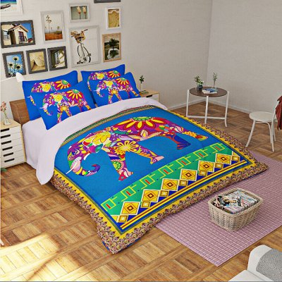 5-piece Polyester Bedding Set Bohemian Elephant PatternBedding Sets<br>5-piece Polyester Bedding Set Bohemian Elephant Pattern<br><br>Package Contents: 2 x Pillowcase, 1 x Duvet Cover, 1 x Flat Sheet, 1 x Fitted Sheet<br>Package size (L x W x H): 40.00 x 30.00 x 4.00 cm / 15.75 x 11.81 x 1.57 inches<br>Package weight: 2.2500 kg<br>Pattern Type: Animal<br>Product weight: 2.2000 kg<br>Type: Double