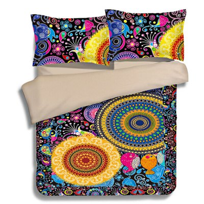 5-piece Polyester Bedding Set Bohemian Fantasy City PatternBedding Sets<br>5-piece Polyester Bedding Set Bohemian Fantasy City Pattern<br><br>Package Contents: 2 x Pillowcase, 1 x Duvet Cover, 1 x Flat Sheet, 1 x Fitted Sheet<br>Package size (L x W x H): 40.00 x 30.00 x 4.00 cm / 15.75 x 11.81 x 1.57 inches<br>Package weight: 2.0500 kg<br>Pattern Type: Animal, Flower<br>Product weight: 2.0000 kg<br>Type: Double