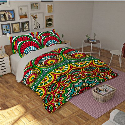 5-piece Polyester Bedding Set Bohemian PatternBedding Sets<br>5-piece Polyester Bedding Set Bohemian Pattern<br><br>Package Contents: 2 x Pillowcase, 1 x Duvet Cover, 1 x Flat Sheet, 1 x Fitted Sheet<br>Package size (L x W x H): 40.00 x 30.00 x 4.00 cm / 15.75 x 11.81 x 1.57 inches<br>Package weight: 2.2500 kg<br>Pattern Type: Flower<br>Product weight: 2.2000 kg<br>Style: Plant / Flower<br>Type: Double