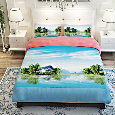 5-piece Polyester Bedding Set Landscape of Guilin PatternBedding Sets<br>5-piece Polyester Bedding Set Landscape of Guilin Pattern<br><br>Package Contents: 2 x Pillowcase, 1 x Duvet Cover, 1 x Flat Sheet, 1 x Fitted Sheet<br>Package size (L x W x H): 40.00 x 30.00 x 4.00 cm / 15.75 x 11.81 x 1.57 inches<br>Package weight: 2.0500 kg<br>Product weight: 2.0000 kg<br>Style: Scenery / Landscape<br>Type: Double