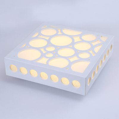 Contracted LED Square Shape Ceiling LightFlush Ceiling Lights<br>Contracted LED Square Shape Ceiling Light<br><br>Features: Square Shape<br>Illumination Field: 10 - 15sqm<br>Luminous Flux: 1200 - 1500lm<br>Optional Light Color: Warm White<br>Package Contents: 1 x Ceiling Light<br>Package size (L x W x H): 32.00 x 32.00 x 12.00 cm / 12.6 x 12.6 x 4.72 inches<br>Package weight: 1.1400 kg<br>Product size (L x W x H): 25.00 x 25.00 x 9.00 cm / 9.84 x 9.84 x 3.54 inches<br>Product weight: 0.8000 kg<br>Sheathing Material: Resin<br>Type: Ceiling Lights<br>Voltage (V): AC110-240<br>Wattage (W): 15<br>Wavelength / CCT: 3000-3500K